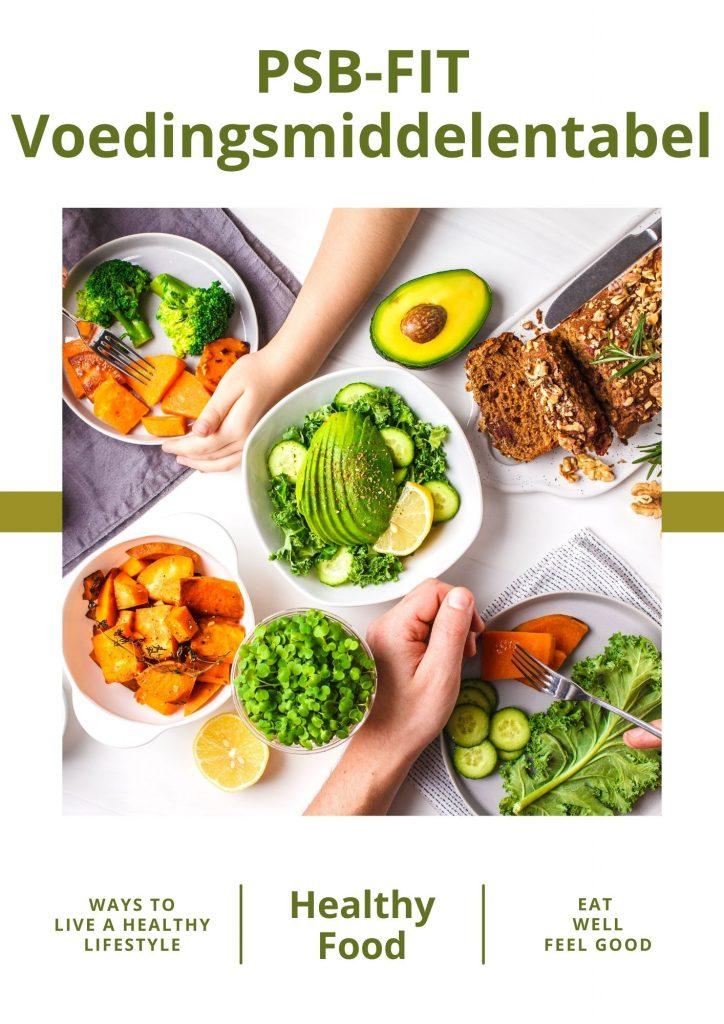 PSB-FIT voedingsmiddelentabel